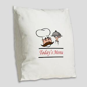 TODAYS MENU Burlap Throw Pillow