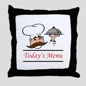 TODAYS MENU Throw Pillow