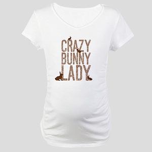 Crazy Bunny Lady Maternity T-Shirt