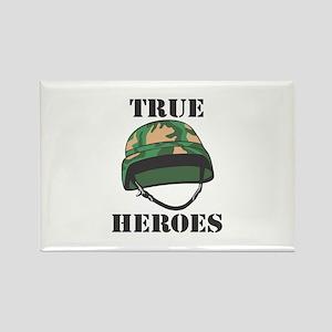 True Heroes Rectangle Magnet