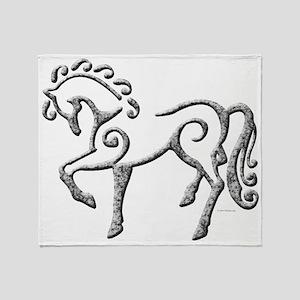 Celtic Horse Throw Blanket