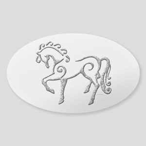 Celtic Horse Sticker (Oval)