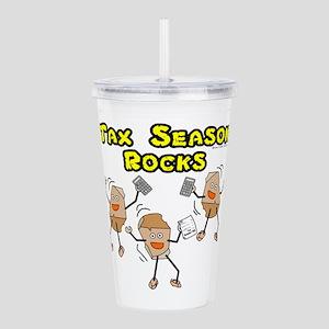 Tax Season Rocks Acrylic Double-wall Tumbler