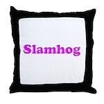 Slamhog Throw Pillow