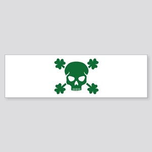 Skull shamrocks Sticker (Bumper)