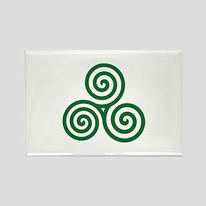 Celtic spiral Rectangle Magnet
