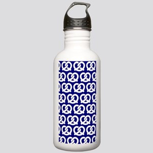Navy and White Twisted Stainless Water Bottle 1.0L