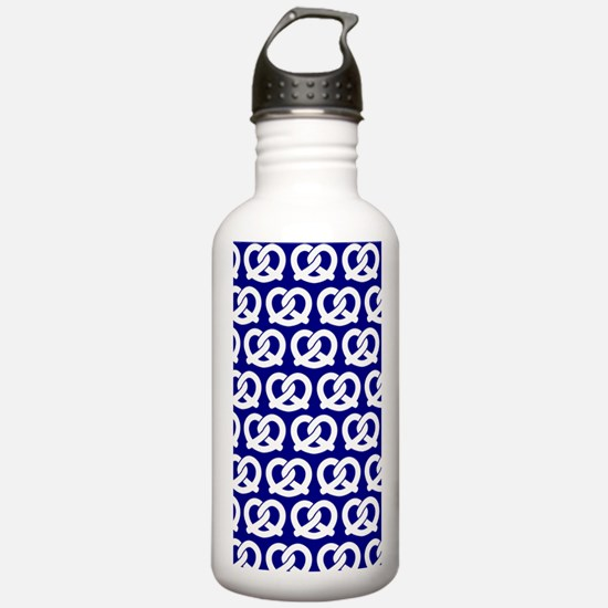 Navy and White Twisted Water Bottle