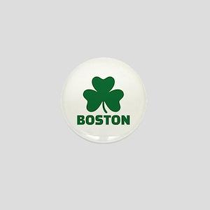 Boston shamrock Mini Button
