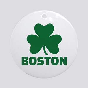 Boston shamrock Ornament (Round)