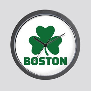 Boston shamrock Wall Clock