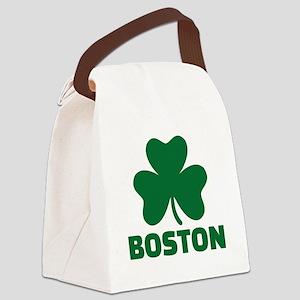 Boston shamrock Canvas Lunch Bag