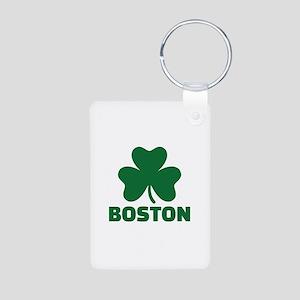 Boston shamrock Aluminum Photo Keychain