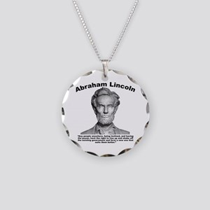 Lincoln: Revolt Necklace Circle Charm