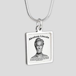 Lincoln: Revolt Silver Square Necklace