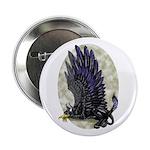"""Dreslough's """"Black Gryphon"""" 2.25"""" Button (100 pack"""