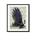 "Dreslough's ""Black Gryphon"" Framed Panel Print"