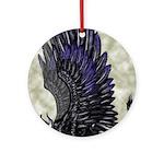 "Dreslough's ""Black Gryphon"" Ornament (Round)"