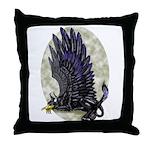 "Dreslough's ""Black Gryphon"" Throw Pillow"