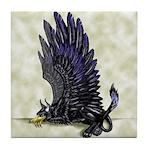 "Dreslough's ""Black Gryphon"" Tile Coaster"