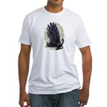 """Dreslough's """"Black Gryphon"""" Fitted T-Shirt"""