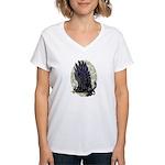 """Dreslough's """"Black Gryphon"""" Women's V-Neck T-Shirt"""