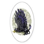 "Dreslough's ""Black Gryphon"" Oval Sticker"