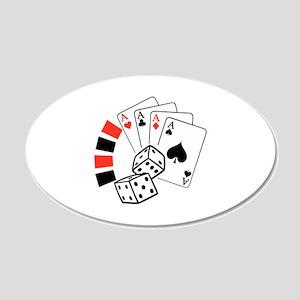 GAMBLING MONTAGE Wall Decal