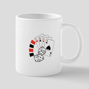 GAMBLING MONTAGE Mugs