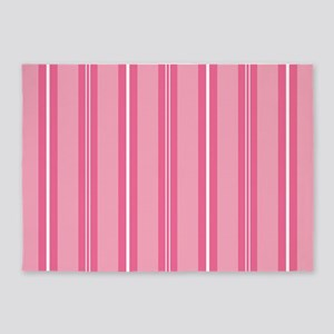 Pin Striped Cute Pink 5'x7'Area Rug