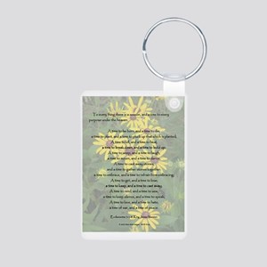 To Everything a Season Aluminum Photo Keychain