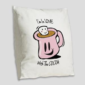 Cocoa Burlap Throw Pillow