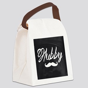 Mustache hubby Canvas Lunch Bag