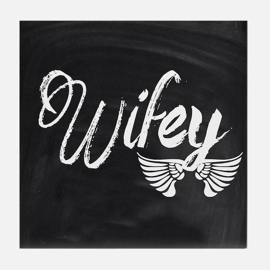 Vintage Wifey Tile Coaster