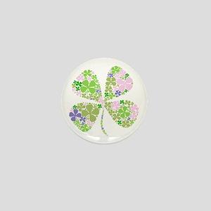 Lucky Multi Four-Leaf Clover Mini Button