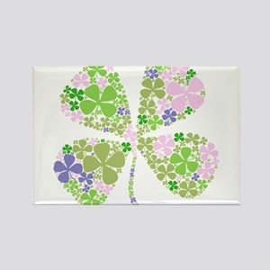 Lucky Multi Four-Leaf Clover Rectangle Magnet