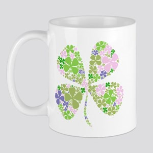 Lucky Multi Four-Leaf Clover Mug