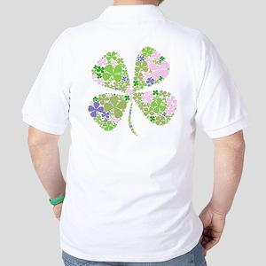 Lucky Multi Four-Leaf Clover Golf Shirt