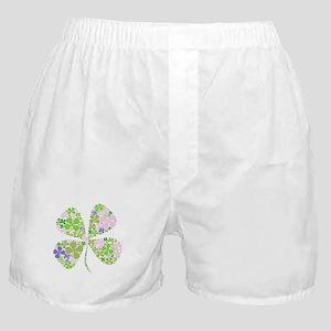 Lucky Multi Four-Leaf Clover Boxer Shorts