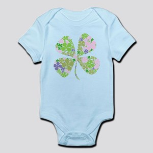 Lucky Multi Four-Leaf Clover Infant Bodysuit