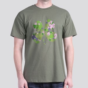 Lucky Multi Four-Leaf Clover Dark T-Shirt