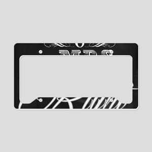 Mr And Mrs License Plate Holder