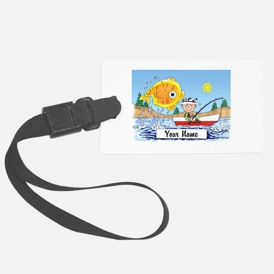 Cute Fisherman Luggage Tag