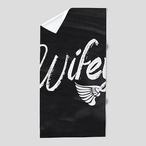 cute Wifey Beach Towel