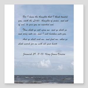 """Jeremiah 29 Promise Square Car Magnet 3"""" x 3"""""""