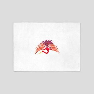 JAPANESE CRANE 5'x7'Area Rug
