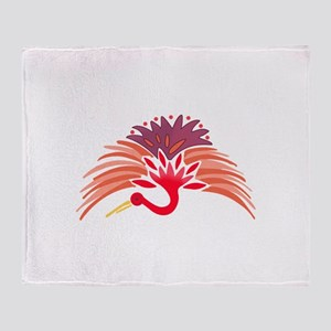 JAPANESE CRANE Throw Blanket
