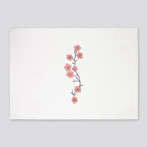 JAPANESE CHERRY BLOSSOM 5'x7'Area Rug