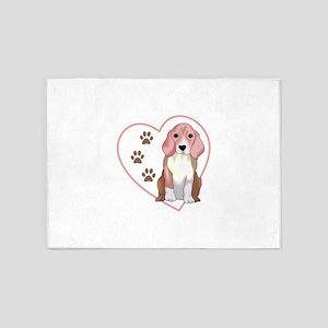 Beagle In Heart 5'x7'Area Rug