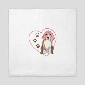 Beagle In Heart Queen Duvet